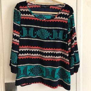 Adorable aztec pattern women's blouse